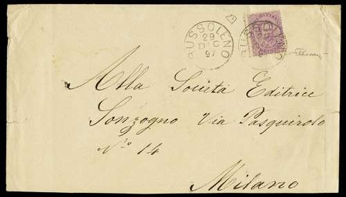 ITALIA REGNO 1889 - Italian Ki...  (1889)  - Auction Shop On-line - MARIO ZANARIA di Angelo Zanaria e C.