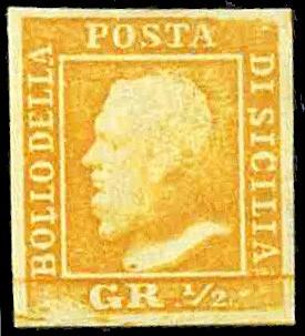 SICILIA 1 - 1/2 grano arancio, I tavola, carta di Palermo