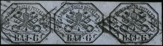 PONTIFICIO 1864 -  bay lilla grigio, striscia di 3 interspazio