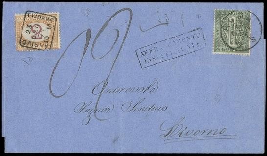 ITALIA REGNO 1870 - Segnatasse: TO14+T4