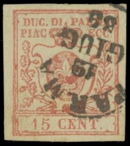 PARMA 9 - 15c vermiglio da Parma