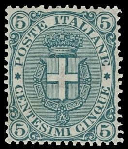 ITALIA REGNO 59 - Umberto I, 5c verde
