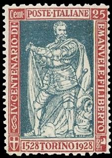 ITALIA REGNO 1928 - 227b: 25c carminio e verde, varietà