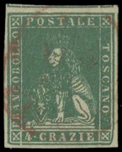 TOSCANA 1857 - 14: 4cr verde