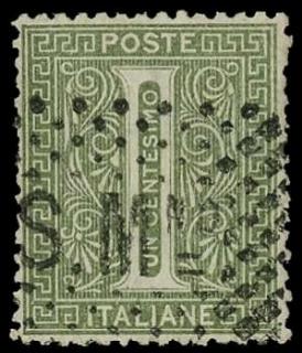 SAN MARINO 1863 -Precursori: 1c. verde grigio chiaro